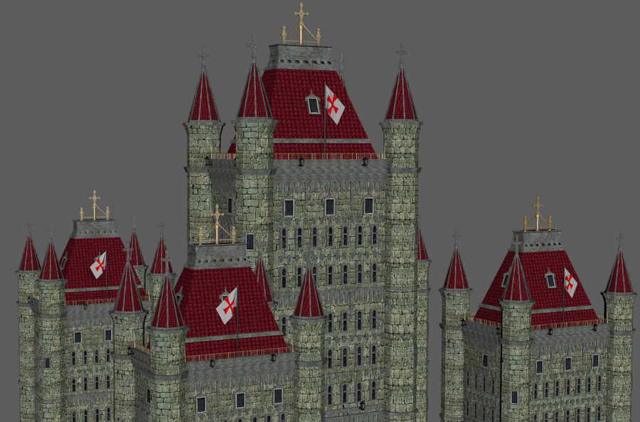 Fantasy Towers Castle royalty-free 3d model - Preview no. 21