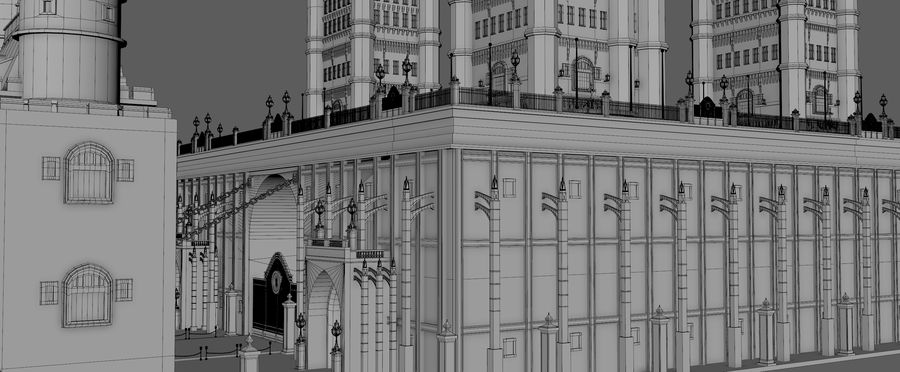 Fantasy Towers Castle royalty-free 3d model - Preview no. 16