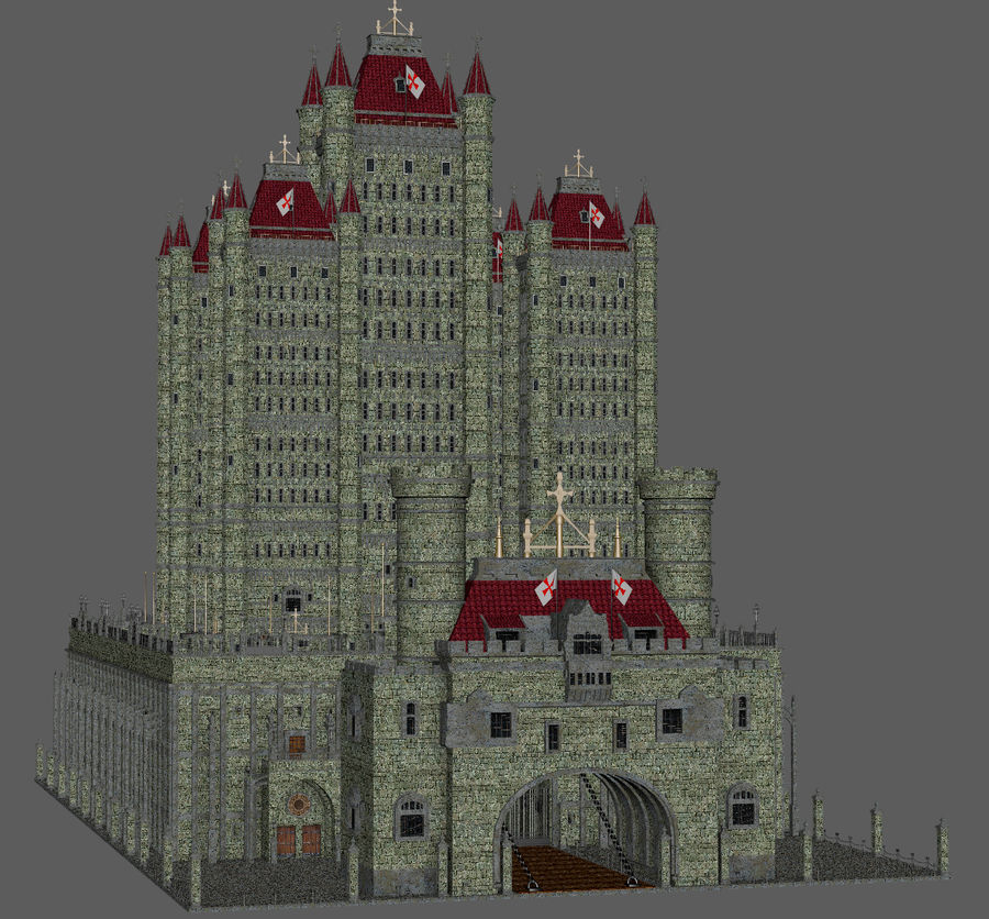 Fantasy Towers Castle royalty-free 3d model - Preview no. 11