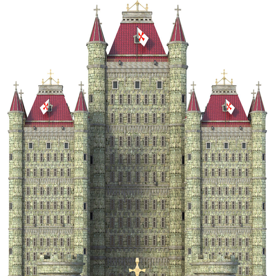 Fantasy Towers Castle royalty-free 3d model - Preview no. 8