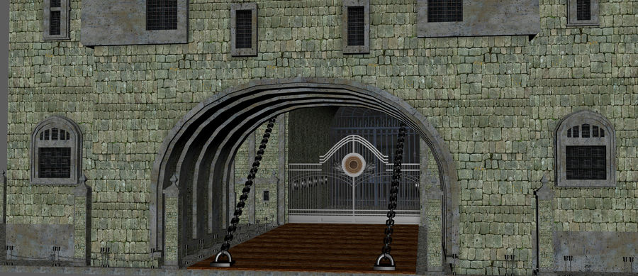 Fantasy Towers Castle royalty-free 3d model - Preview no. 13