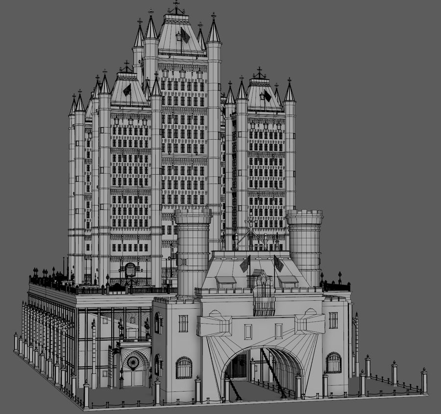Fantasy Towers Castle royalty-free 3d model - Preview no. 12
