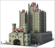 Fantasy Towers Castle 3d model