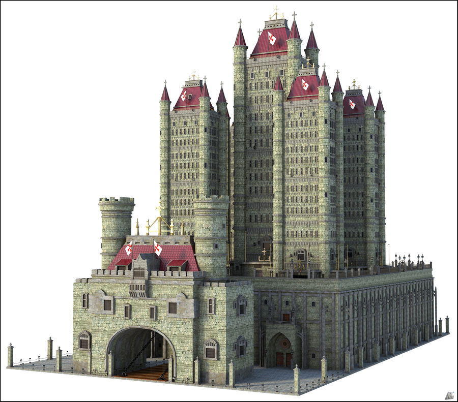 Fantasy Towers Castle royalty-free 3d model - Preview no. 1