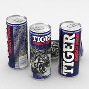 Napój Can Tiger Energy Drink 250ml 3d model