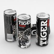 음료 캔 타이거 스피드 에너지 드링크 250ml 3d model