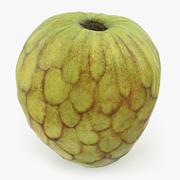 Cherimoya eller Annona Cherimola Fruit 3D-modell 3d model
