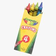 Lápices de colores clásicos modelo 3d