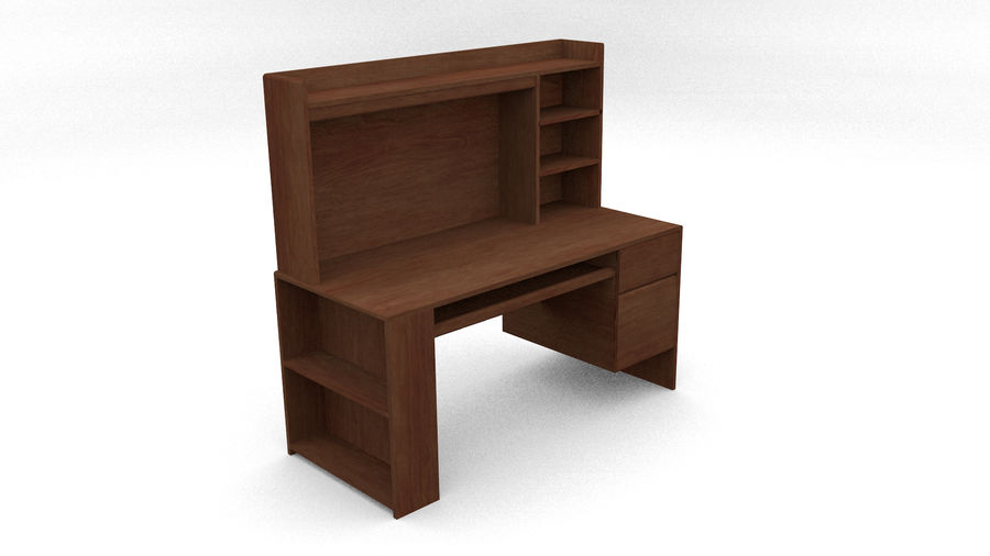 Classic Computer Desk royalty-free 3d model - Preview no. 2