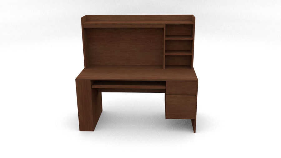 Classic Computer Desk royalty-free 3d model - Preview no. 4