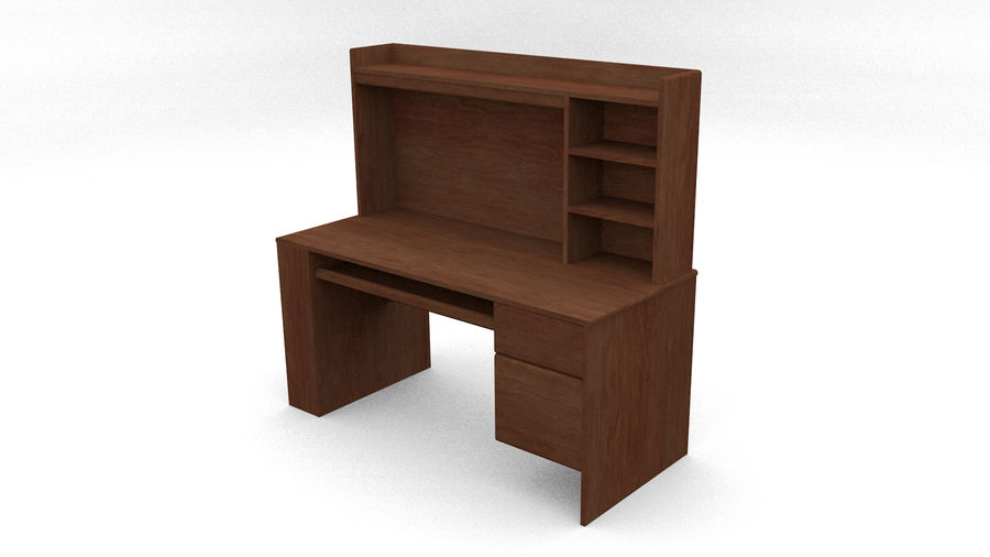 Classic Computer Desk royalty-free 3d model - Preview no. 5
