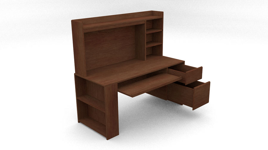 Classic Computer Desk royalty-free 3d model - Preview no. 1