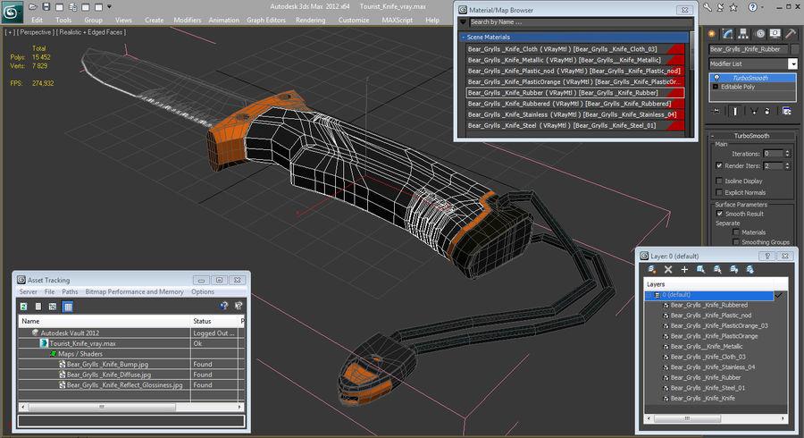 Tourist Knife Modèle 3D royalty-free 3d model - Preview no. 13