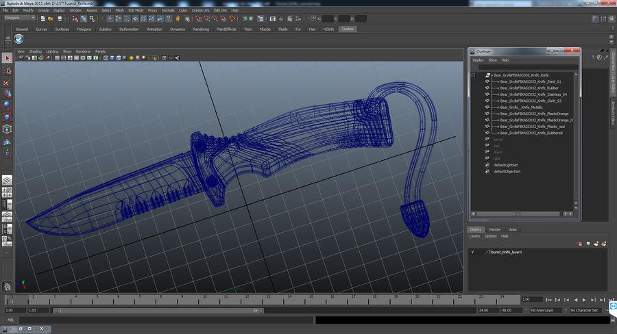Tourist Knife Modèle 3D royalty-free 3d model - Preview no. 14