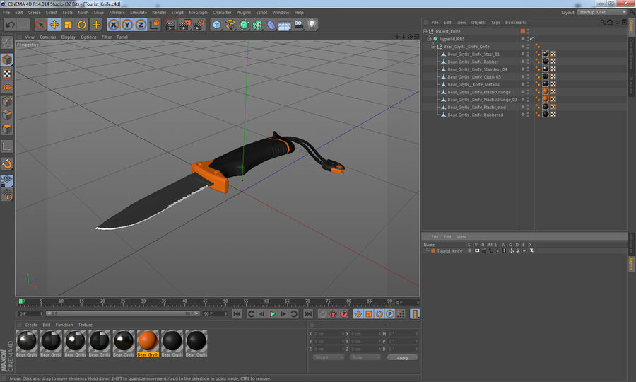 Tourist Knife Modèle 3D royalty-free 3d model - Preview no. 15