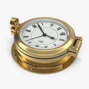 Horloge de bateau en laiton 3d model