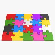 Kleurrijke puzzelstukjes 3d model
