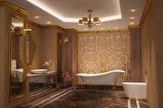 Bathroom Luxury Gold 1 3d model