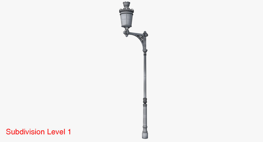 Vintage Lampa uliczna royalty-free 3d model - Preview no. 13