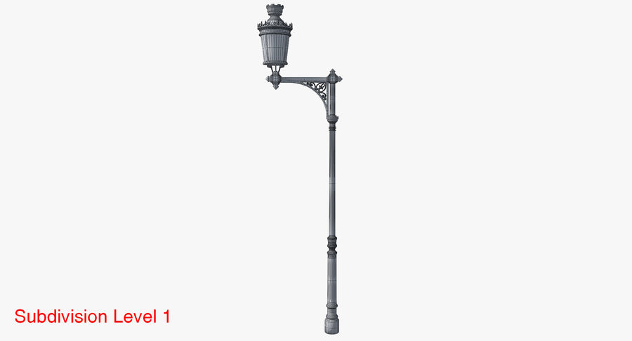 Vintage Lampa uliczna royalty-free 3d model - Preview no. 21