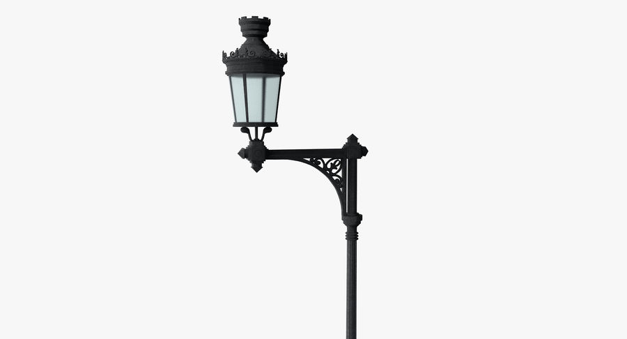 Vintage Lampa uliczna royalty-free 3d model - Preview no. 8