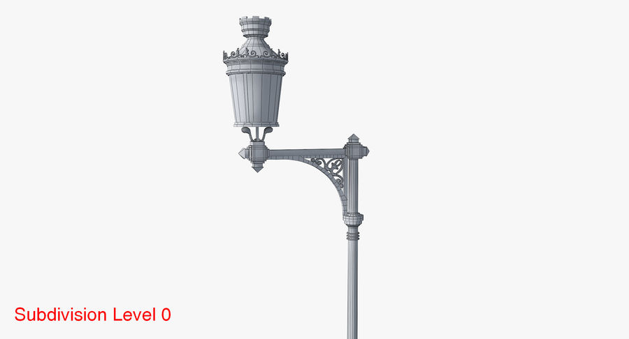 Vintage Lampa uliczna royalty-free 3d model - Preview no. 18