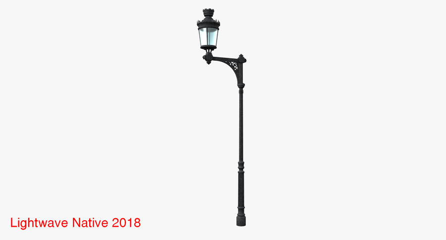 Vintage Lampa uliczna royalty-free 3d model - Preview no. 5