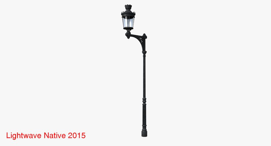 Vintage Lampa uliczna royalty-free 3d model - Preview no. 4