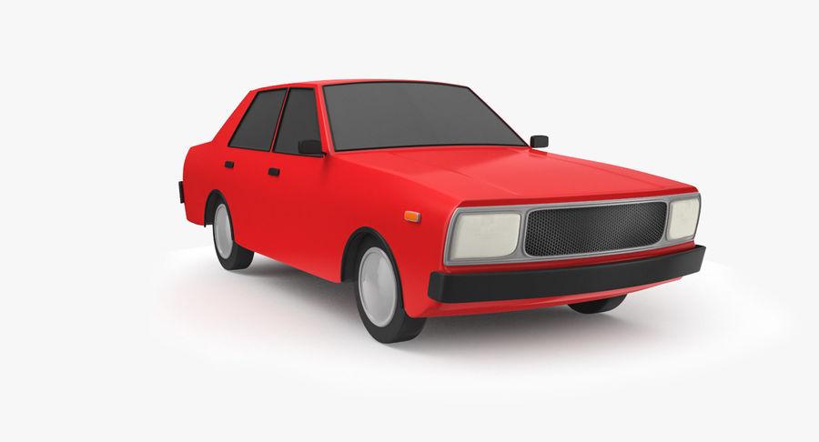 3つの低ポリ漫画車3Dモデル royalty-free 3d model - Preview no. 16