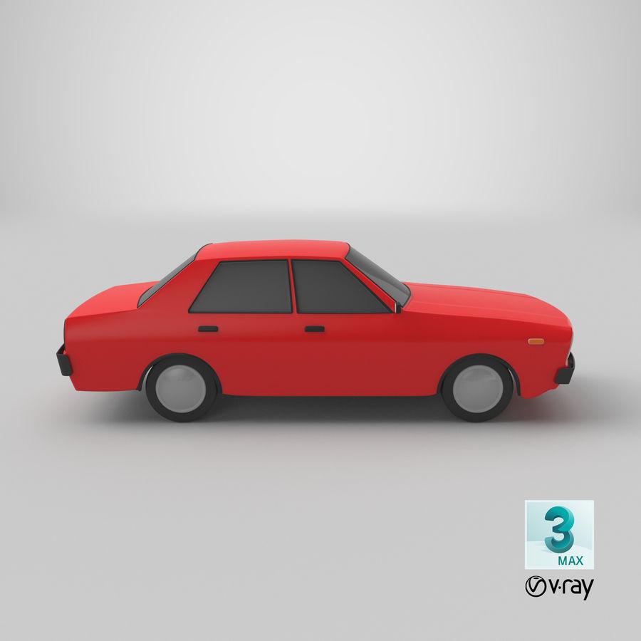 3つの低ポリ漫画車3Dモデル royalty-free 3d model - Preview no. 26