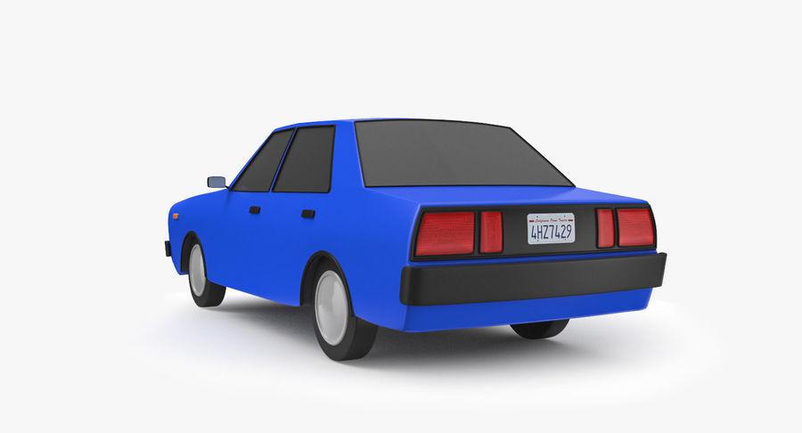 3つの低ポリ漫画車3Dモデル royalty-free 3d model - Preview no. 9