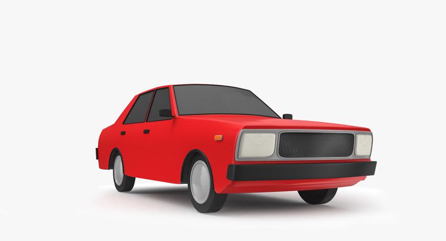 3つの低ポリ漫画車3Dモデル royalty-free 3d model - Preview no. 14