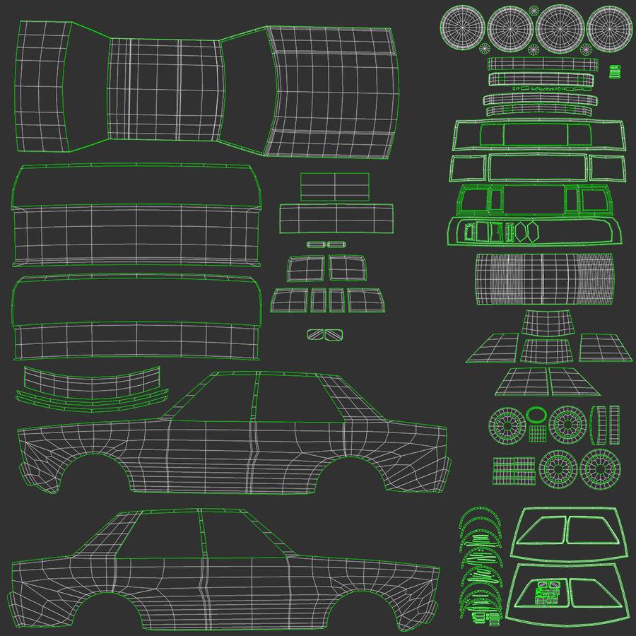 3つの低ポリ漫画車3Dモデル royalty-free 3d model - Preview no. 23