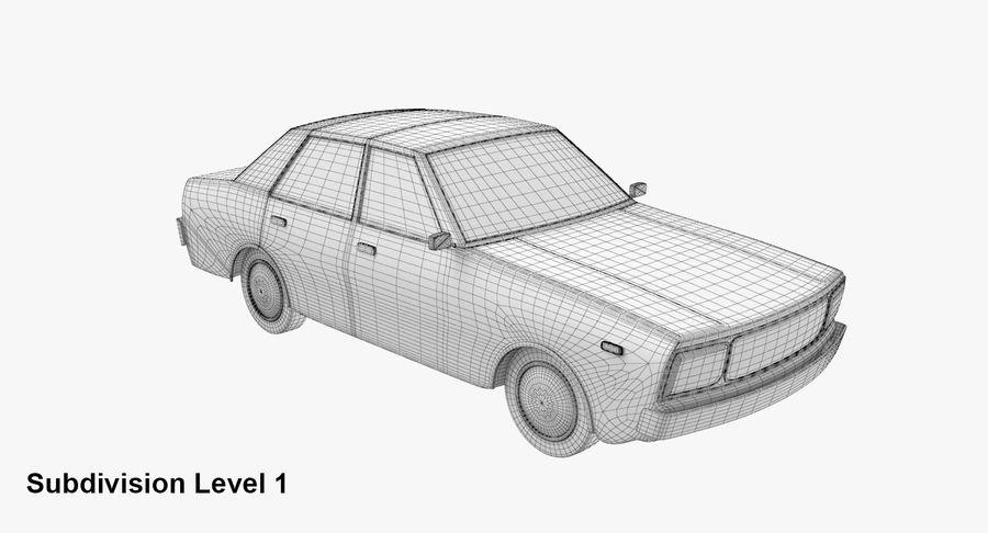 3つの低ポリ漫画車3Dモデル royalty-free 3d model - Preview no. 19