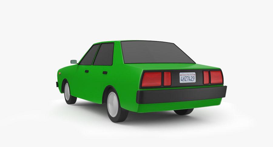 3つの低ポリ漫画車3Dモデル royalty-free 3d model - Preview no. 10