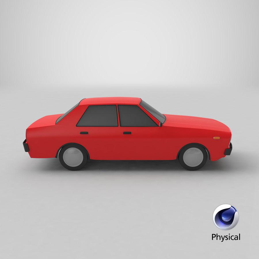 3つの低ポリ漫画車3Dモデル royalty-free 3d model - Preview no. 28