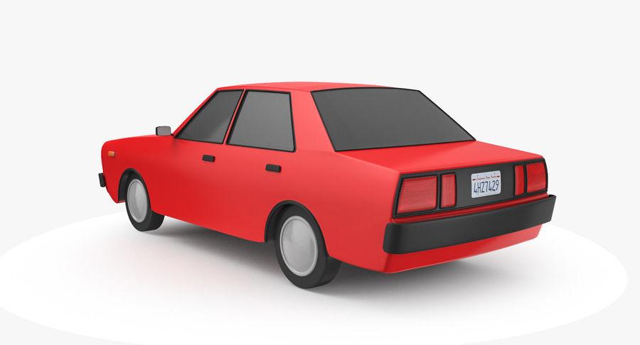 3つの低ポリ漫画車3Dモデル royalty-free 3d model - Preview no. 5
