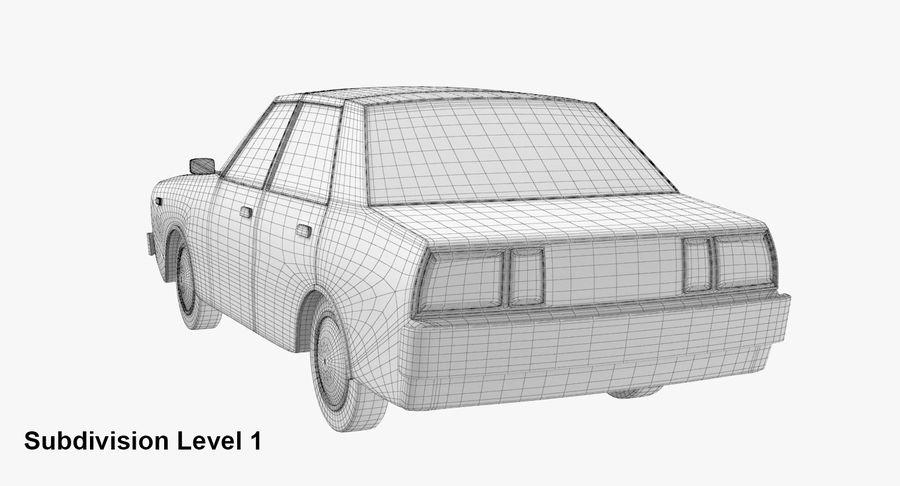 3つの低ポリ漫画車3Dモデル royalty-free 3d model - Preview no. 21