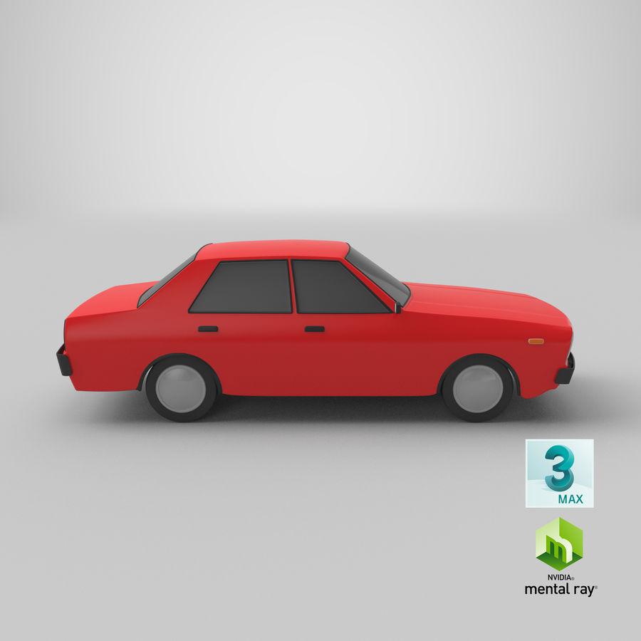 3つの低ポリ漫画車3Dモデル royalty-free 3d model - Preview no. 27