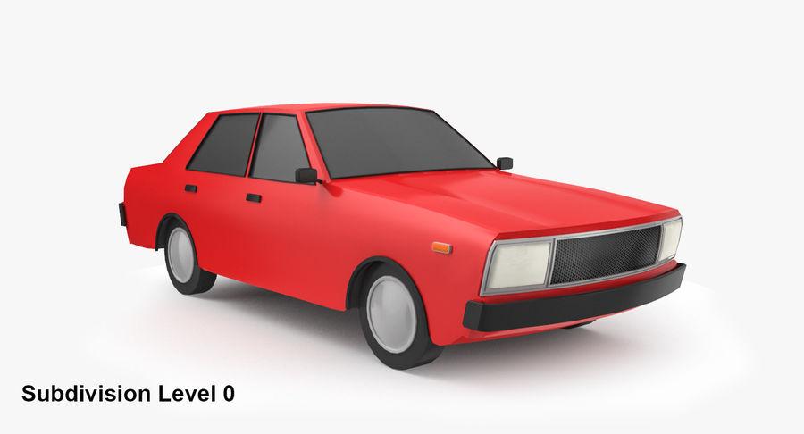 3つの低ポリ漫画車3Dモデル royalty-free 3d model - Preview no. 11