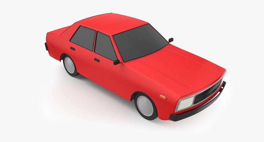 3つの低ポリ漫画車3Dモデル royalty-free 3d model - Preview no. 8