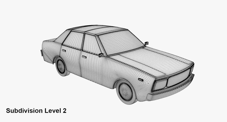 3つの低ポリ漫画車3Dモデル royalty-free 3d model - Preview no. 22