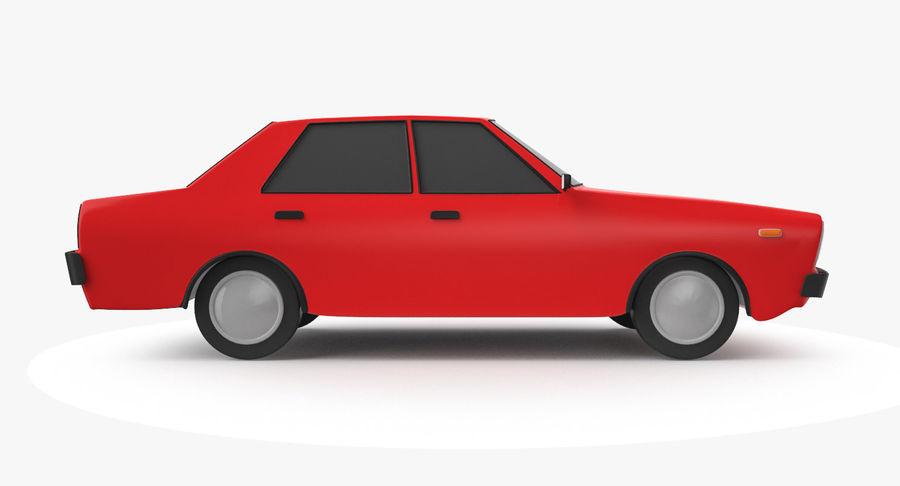 3つの低ポリ漫画車3Dモデル royalty-free 3d model - Preview no. 17