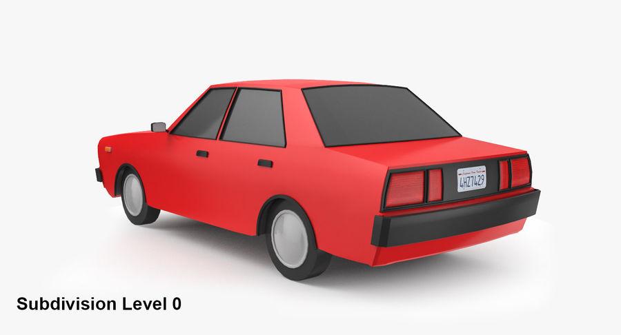 3つの低ポリ漫画車3Dモデル royalty-free 3d model - Preview no. 12