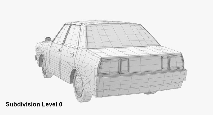 3つの低ポリ漫画車3Dモデル royalty-free 3d model - Preview no. 20