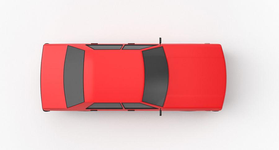3つの低ポリ漫画車3Dモデル royalty-free 3d model - Preview no. 13