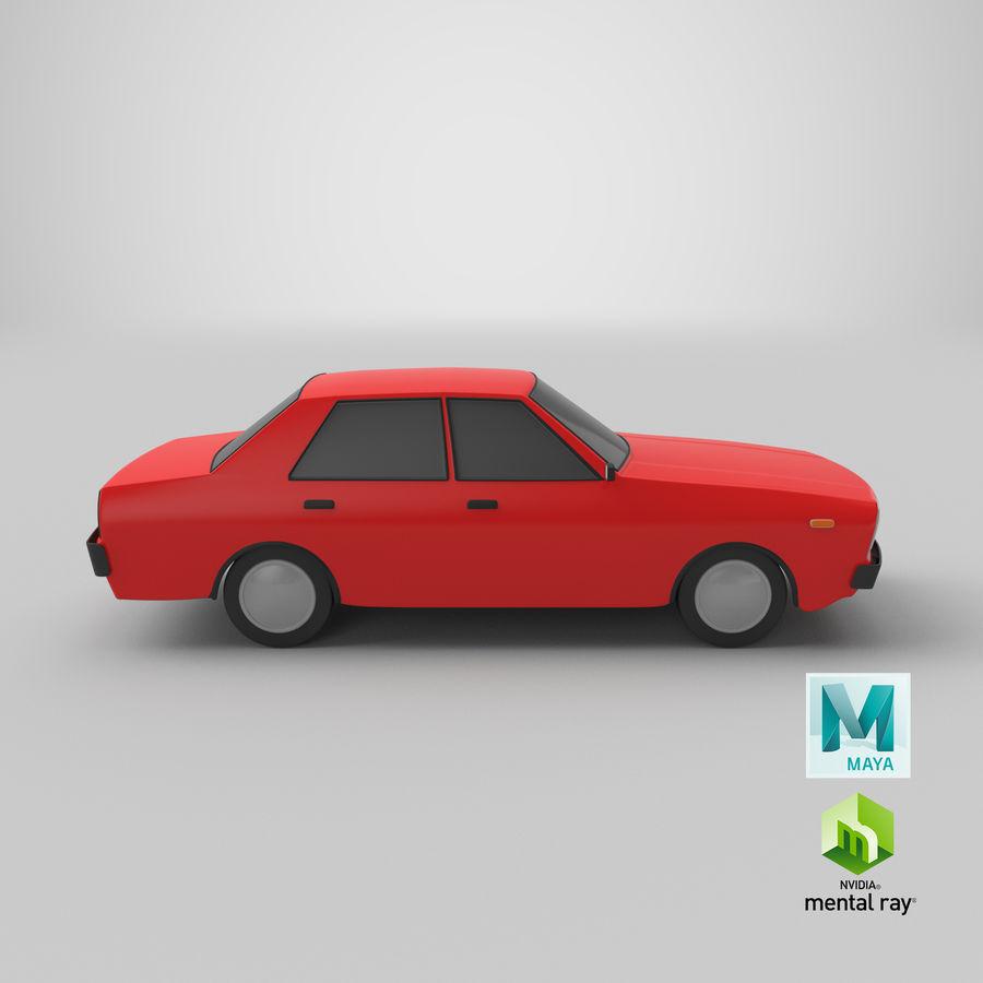 3つの低ポリ漫画車3Dモデル royalty-free 3d model - Preview no. 25