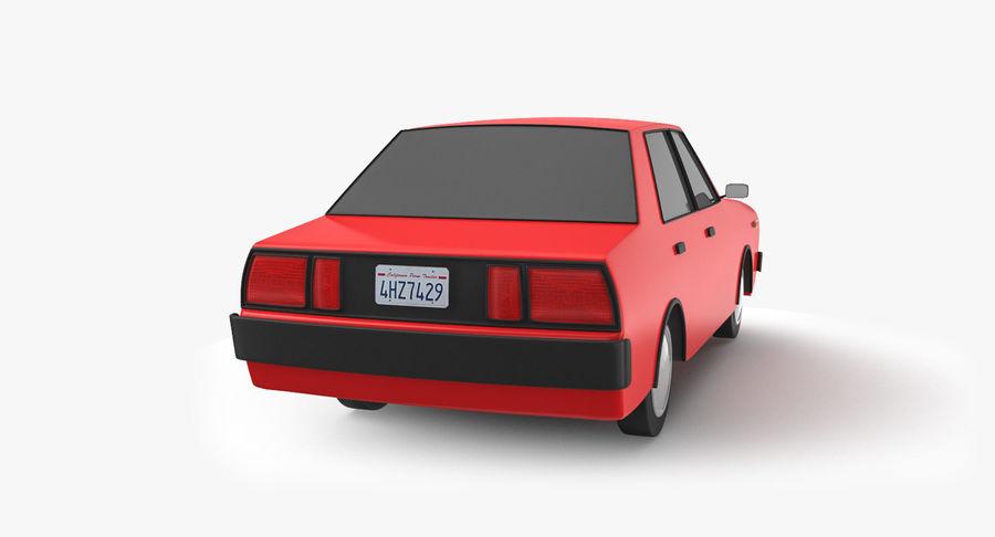 3つの低ポリ漫画車3Dモデル royalty-free 3d model - Preview no. 15