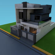 exterior de la casa modelo 3d