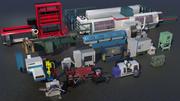 Indústria de máquinas 3d model